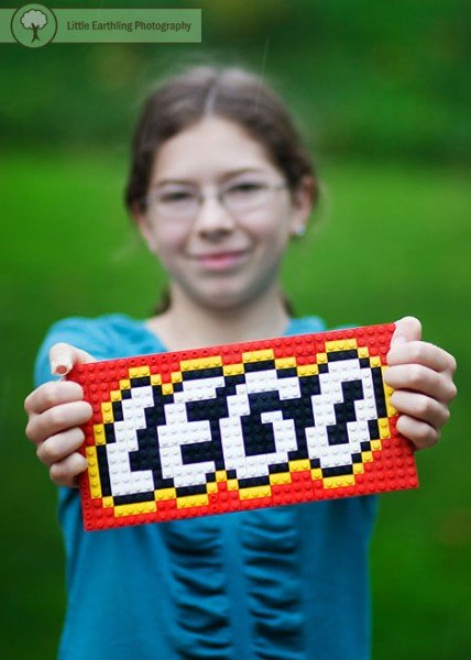 Learning with LEGO: challenge your children to build a lay flat LEGO mosaic.