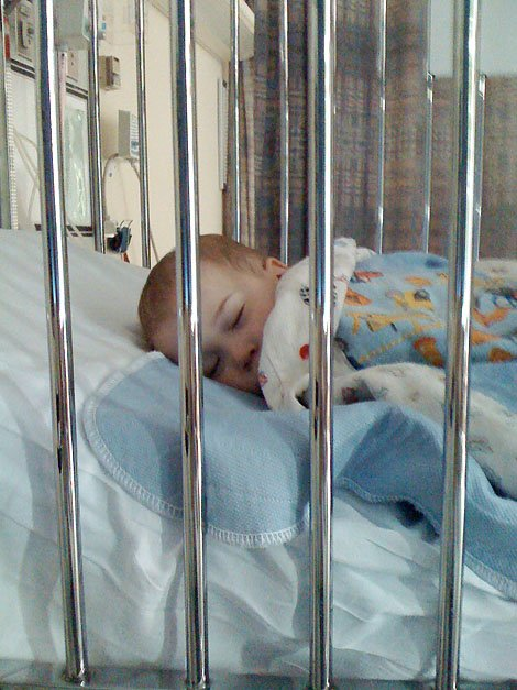 Apollo was hospitalized at 11 months old for RSV and pneumonia.