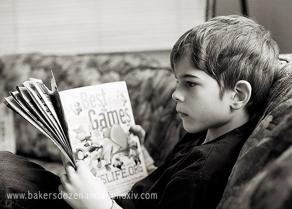 Tucker reading book Best Games