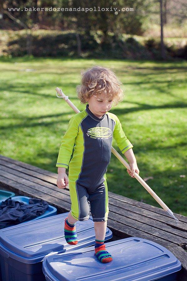 toddler curly hair, REI, REI swimsuit, toddler boardsuit