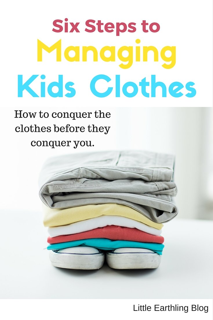 Six steps to managing kids clothes
