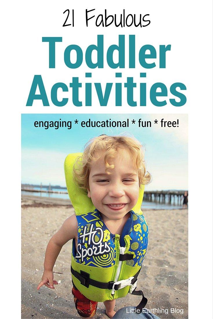 21 Fabulous toddler activities to help keep you sane!