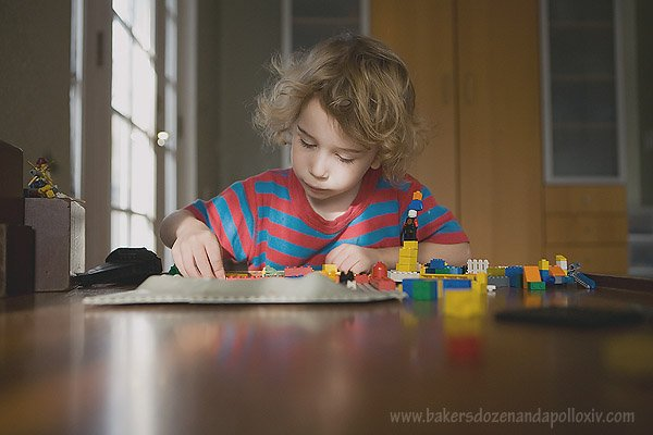 large family, homeschooling, large family blog, lego, boy with lego, adoption, adoption blog