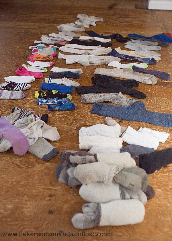 socks, large family, large family blog, large family humor, k-mart