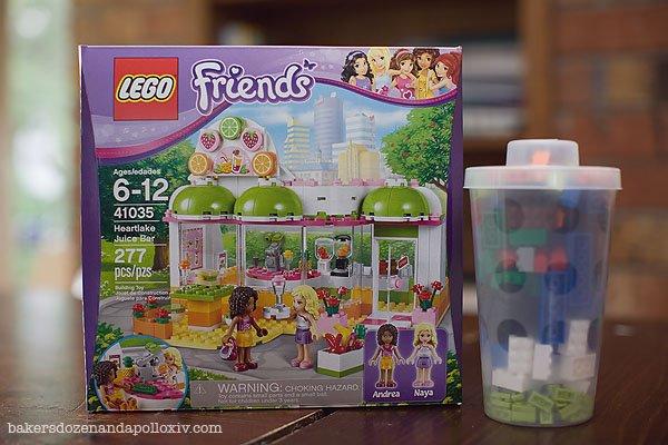 Fun Girls night with Avi and the LEGO Friends HeartLake Juice Bar.