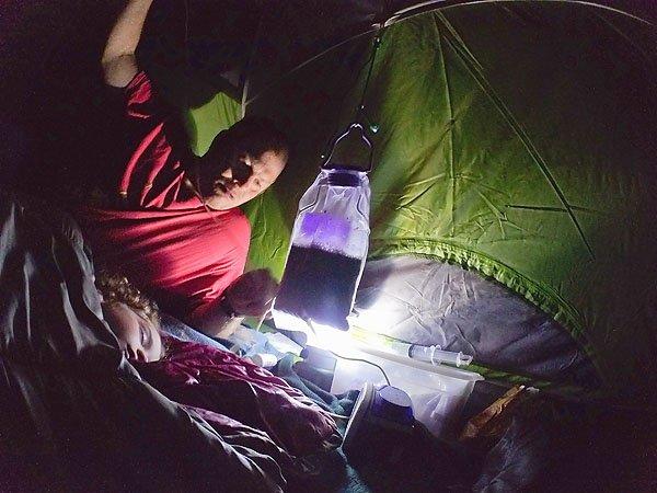 feeding tube camping