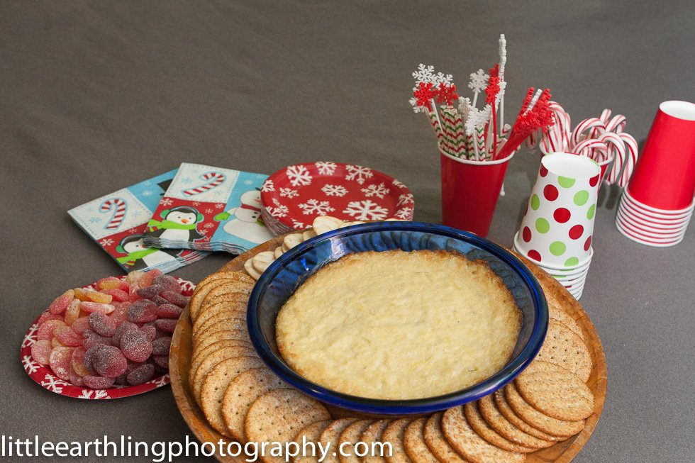 Christmas Movie and Hot artichoke dip