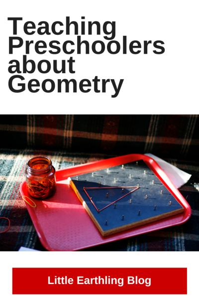 Great ideas for teaching preschoolers about geometry.