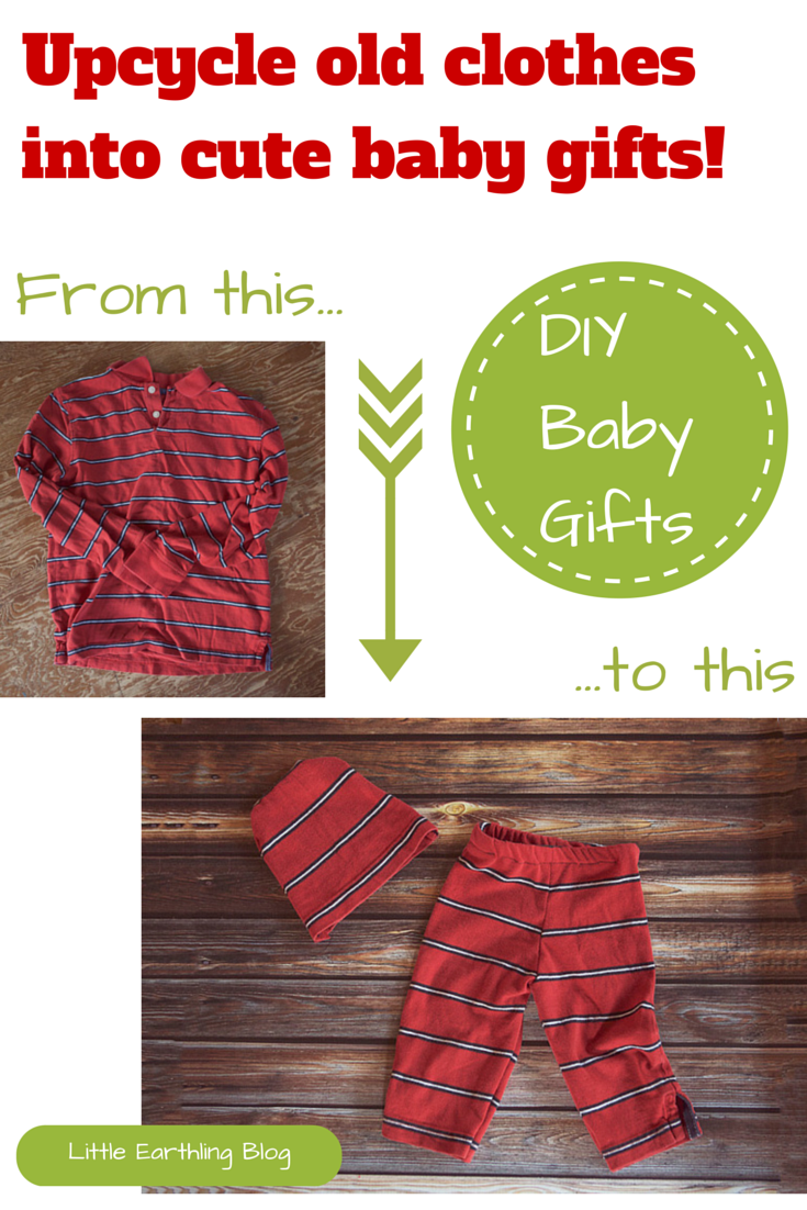Use this tutorial to upcycle old clothes into adorable baby gifts!
