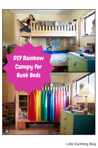 This awesome DIY rainbow canopy is  quick and easy!
