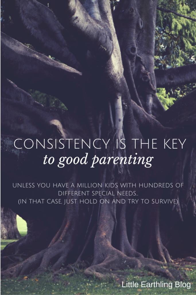Consistency is the key to good parenting