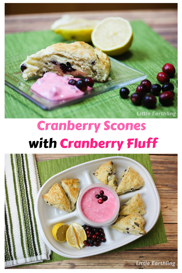 Amazing cranberry scone recipe with cranberry fluff.