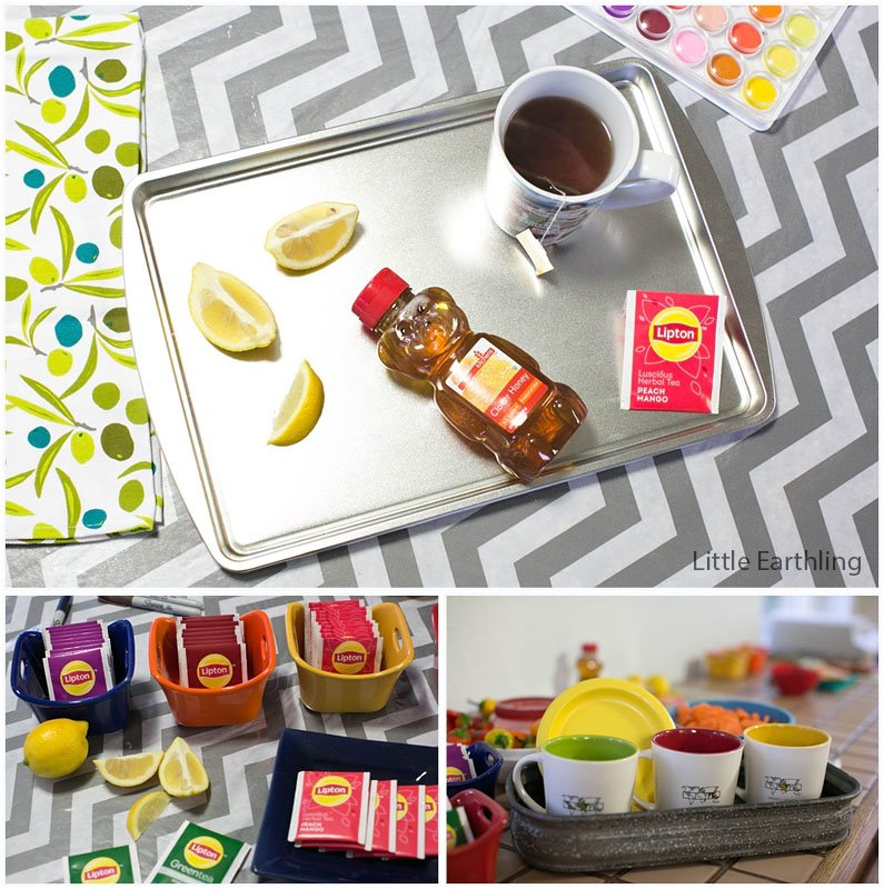 Host a great art party for friends and try out Lipton's all new herbal teas!