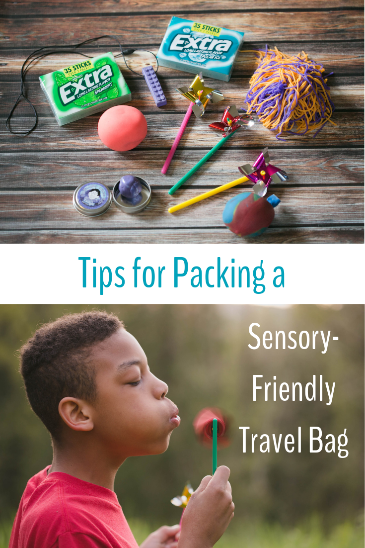 Tips for packing a sensory friendly travel bag.