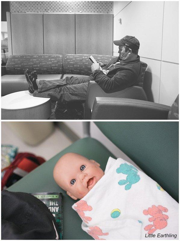 Waiting for dental work at Seattle Children's Hospital.