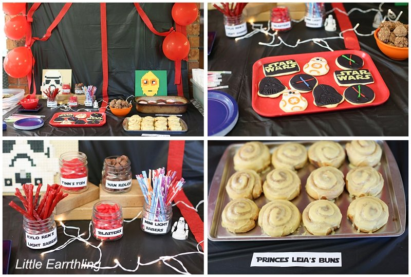 Fun food ideas for a Star Wars themed party.