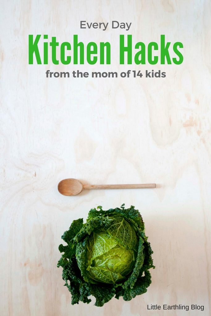 Every day kitchen hacks from the mom of 14 kids.