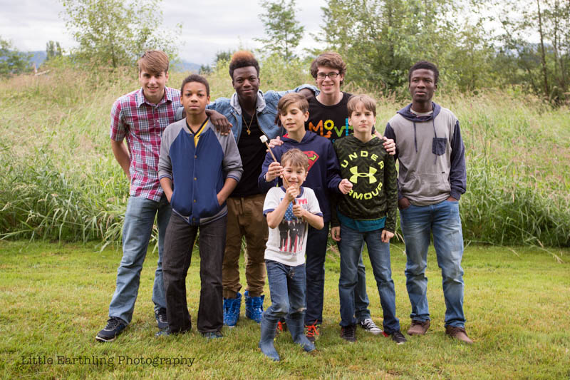 Large family of boys