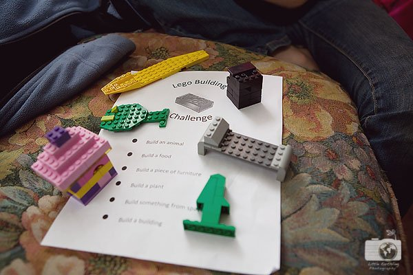 Encourage your child's creativity by using this LEGO building challenge.