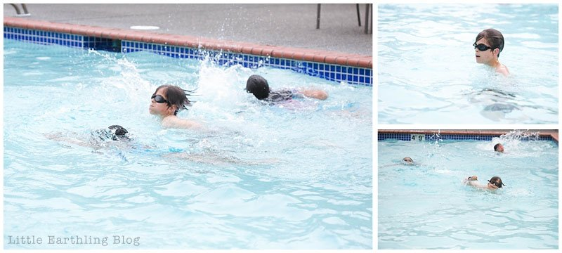 My kids just finished a week of Safety Around Water by the YMCA. Swimming lessons.