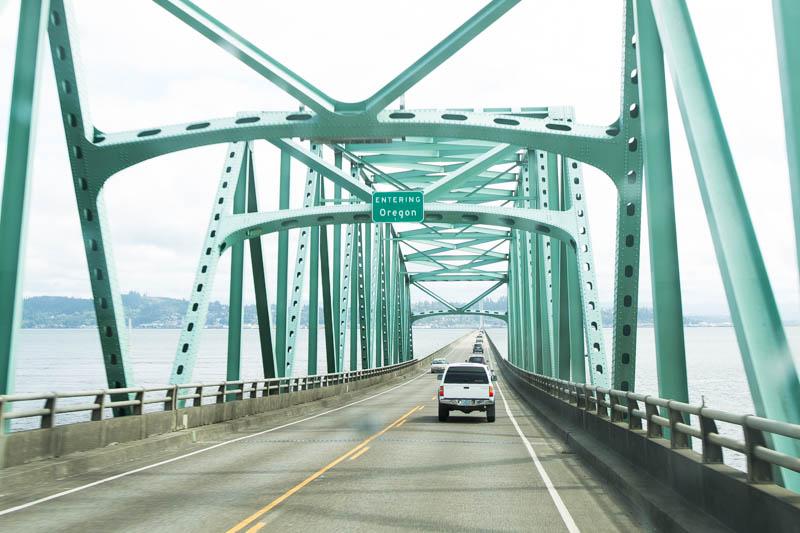 Crossing the Astoria bridge into Oregon.
