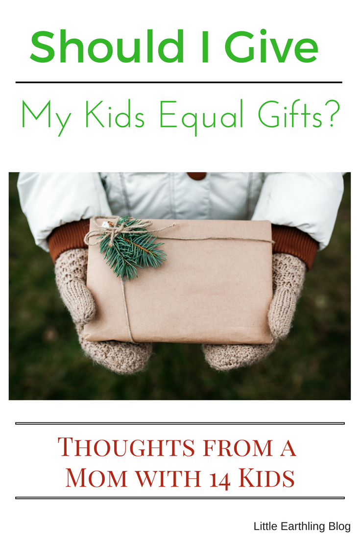 Should I give my kids equal gifts? Thoughts from a mom with 14 kids.