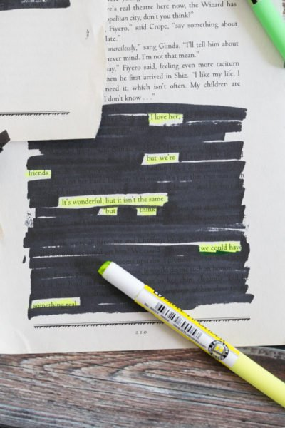 Blackout poetry is a fun way to get creative with writing!