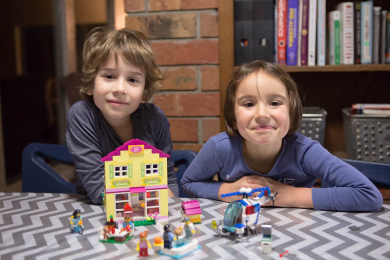 Encouraging small steps toward indolence with school, friends and LEGO Juniors.