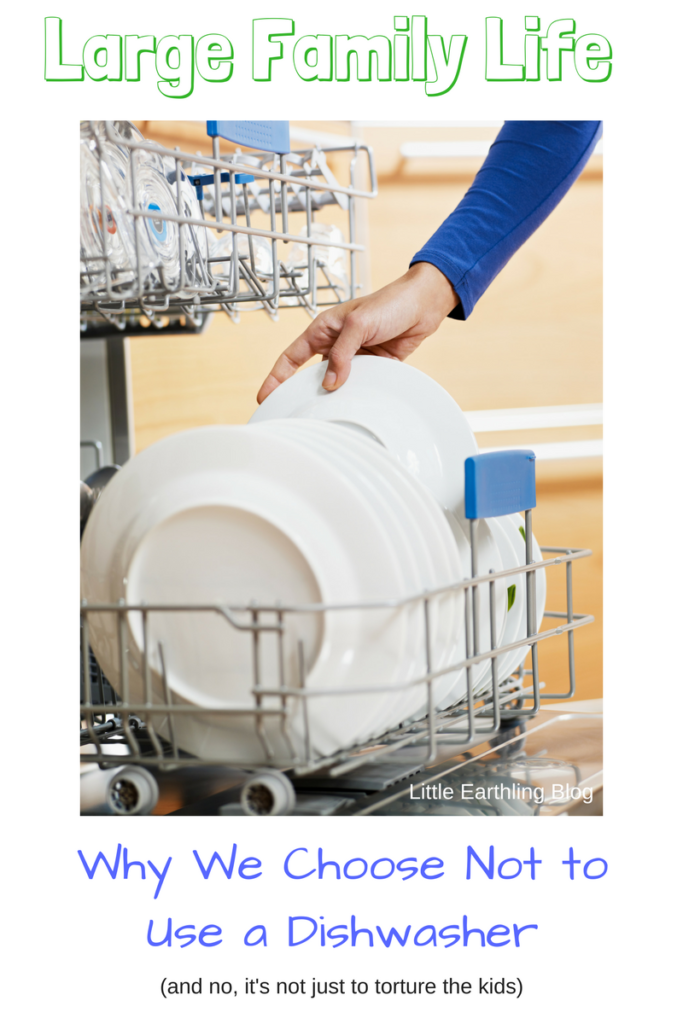 Large Family Life: Why we choose not to use a dishwasher.