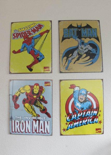 Superhero Panels for my lego loving boys.