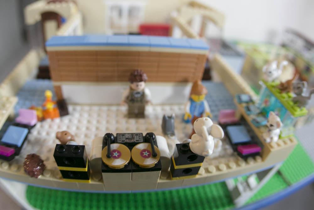 LEGO display in boy's room