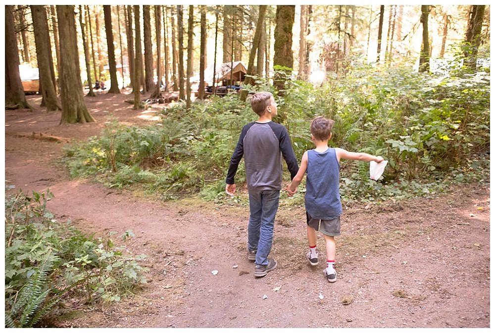 Brothers at Hidden Valley Camp in Granite Falls, WA.
