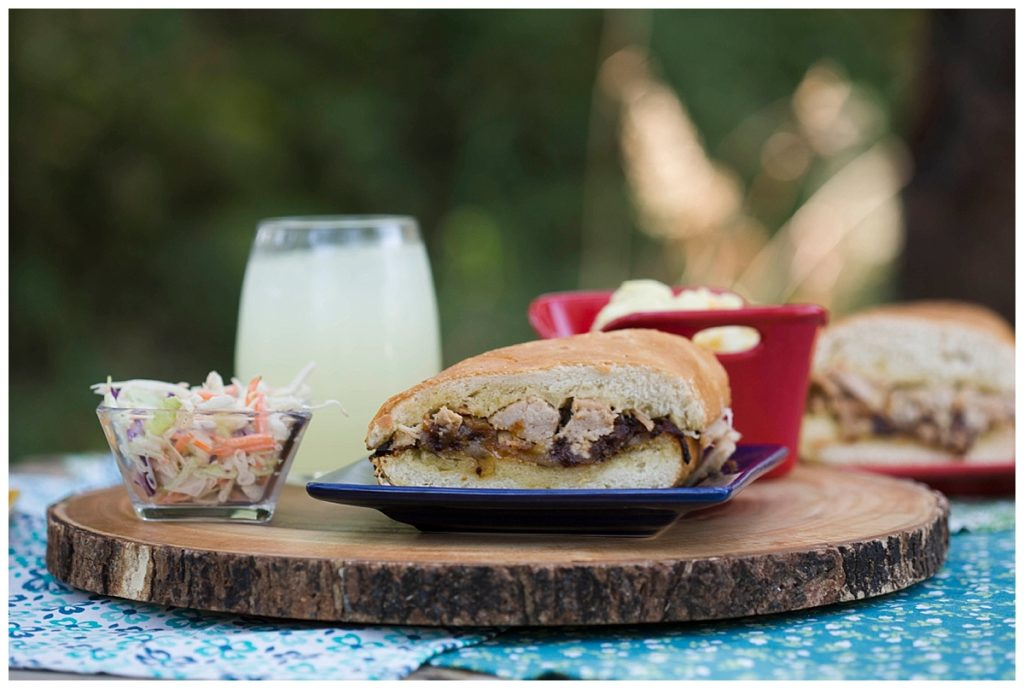 Roasted Garlic and Herb Pork Sandwiches are a quick and easy weeknight meal.