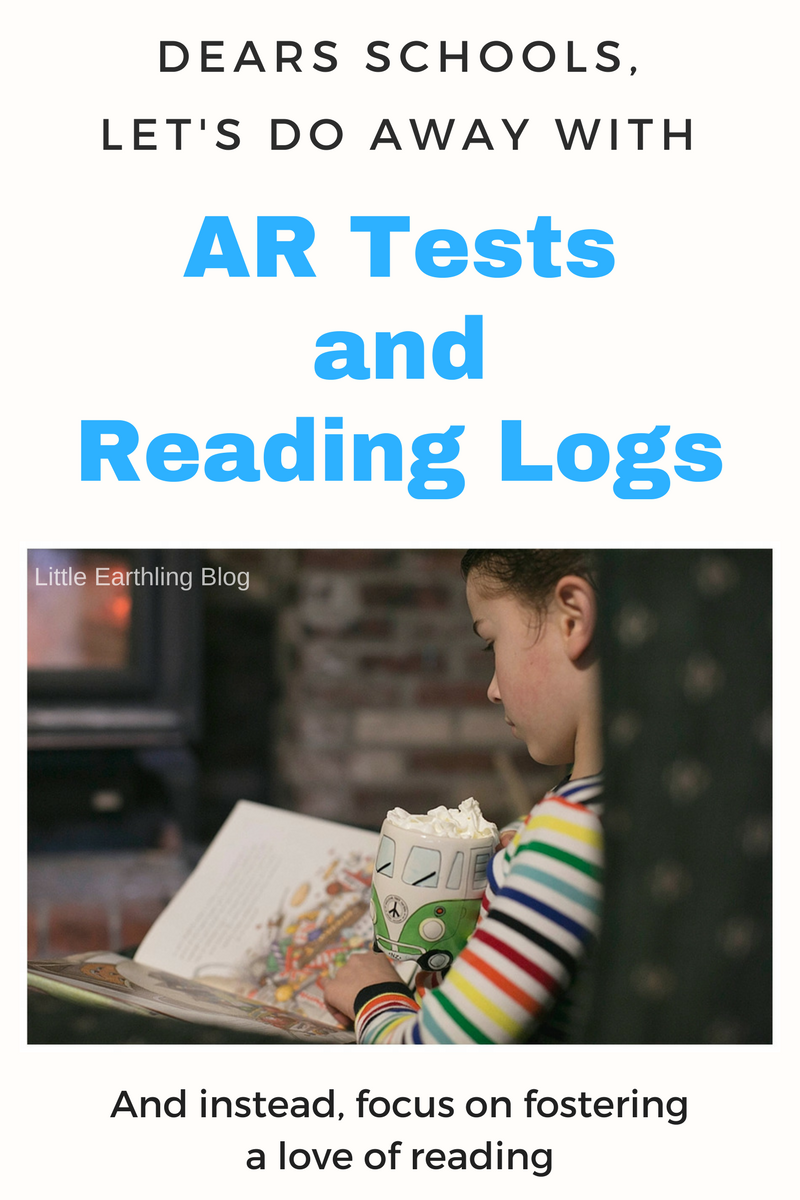 Let's do away with AR tests and reading logs and focus on fostering a love of reading.