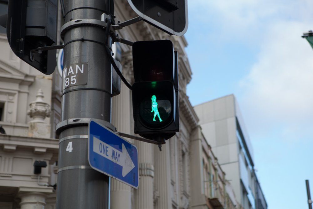 The surprising crosswalks in Wellington, New Zealand.