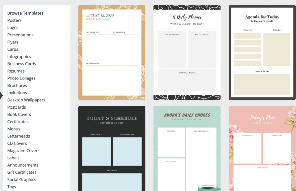 Use Canva to make a FREE planner.