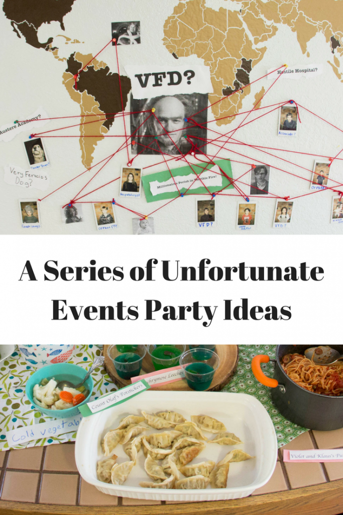 How to host a fun A Series of Unfortunate Events Party.