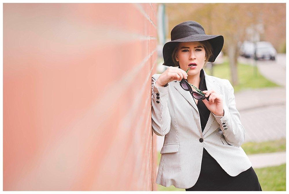 Kalina dressed as Esme Squalor at Western Washington University.