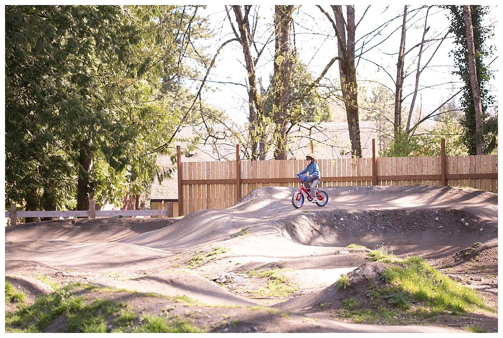 Enjoying the Whatcom Falls bike track.
