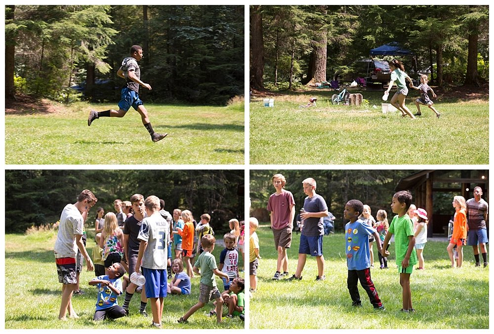 Kids Olympics at the church campout.
