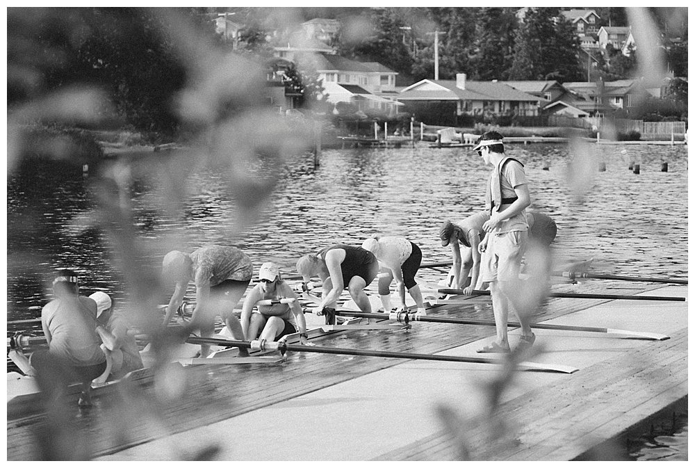 Rowing team at Lake Whatcom
