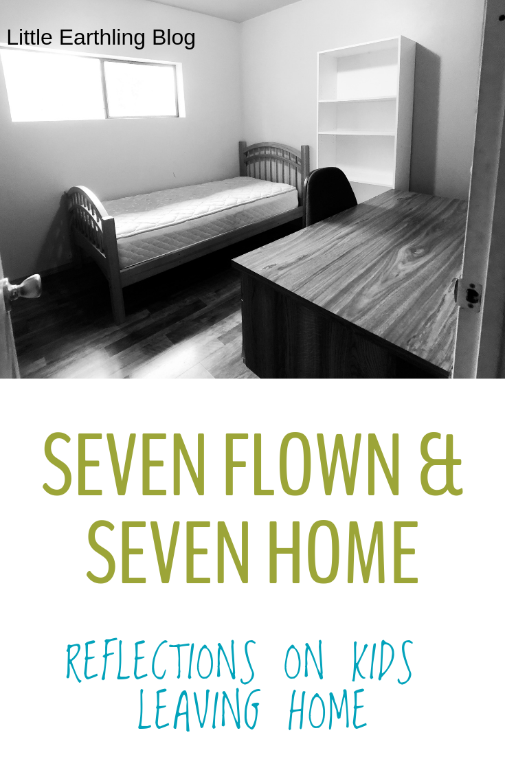 Seven Flown and Seven Home: Reflections on Kids Leaving Home