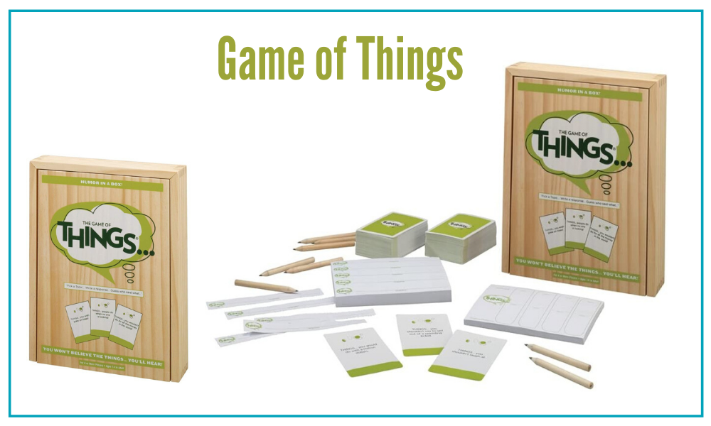 The Game of Things is a great game for large famlilies.