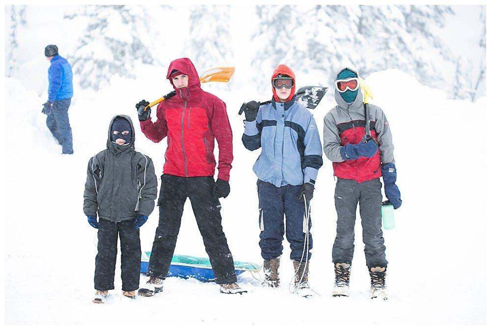 Kiwis on Mt Baker