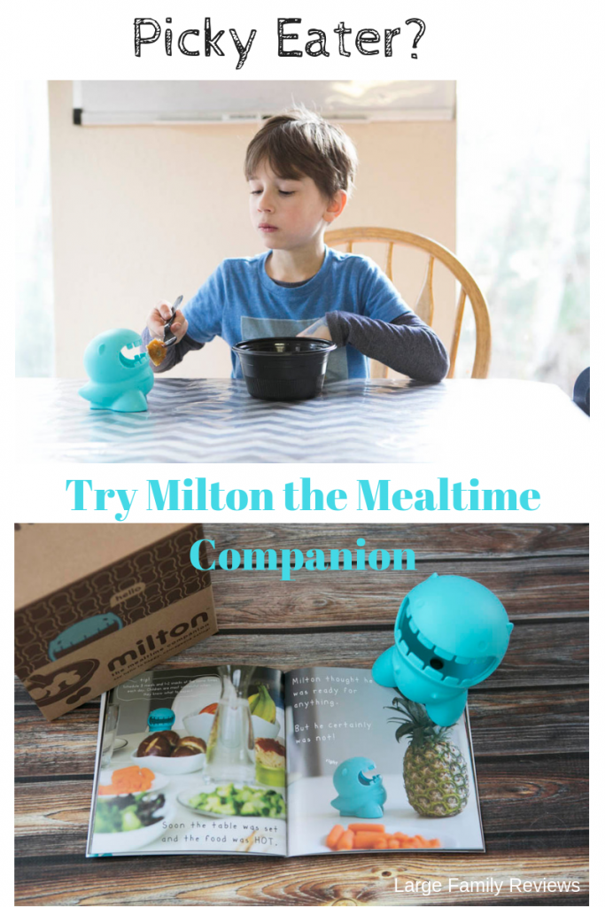 Milton the Mealtime companion will help your picky eater enjoy meals again.