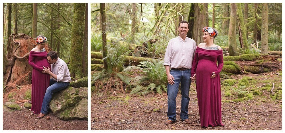 A beautiful maternity session at Lake Whatcom by Bellingham Maternity Photographer, Renee Bergeron.