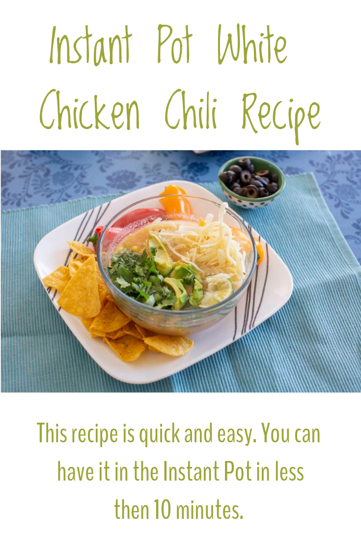 This Instant Pot White Chicken Chili recipe can be prepped in less than 10 minutes.