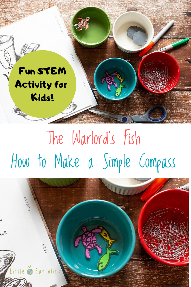 The Warlord's Fish STEM activity. How to make a simple compass