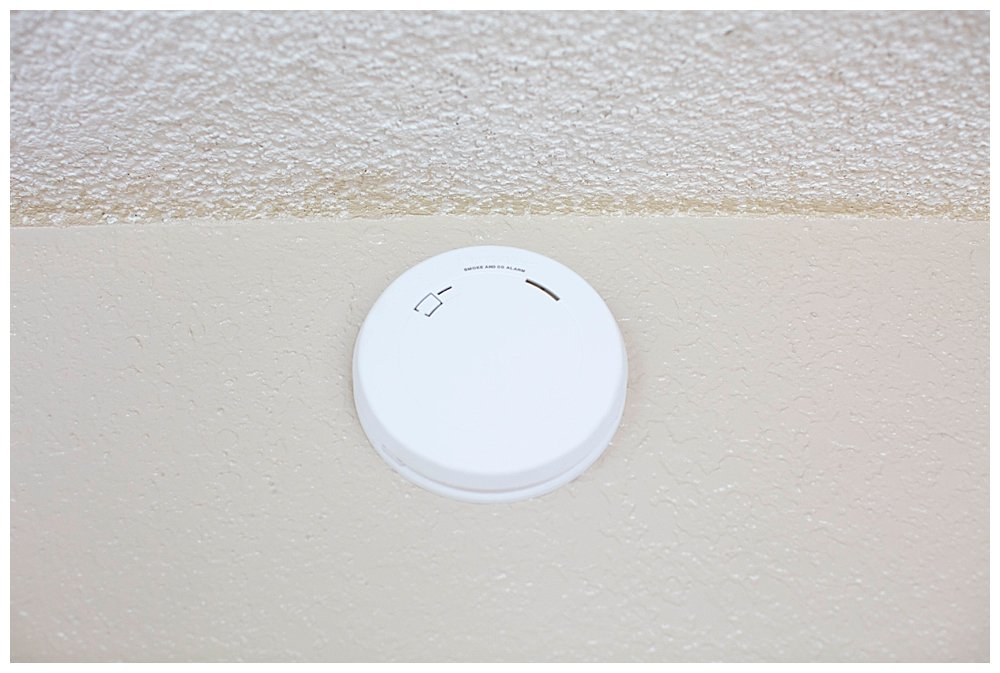 First Alert Smoke Detector is slim.