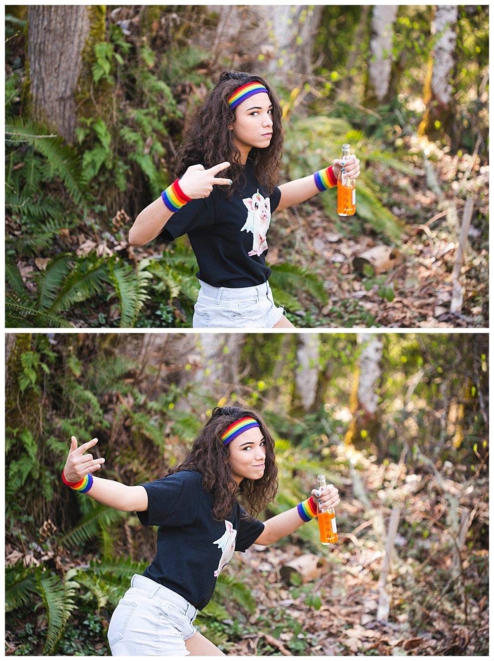 Avi posing in the woods.